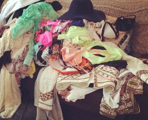 Millie Mackintosh shares pictures of her Coachella bag on 15 April 2014