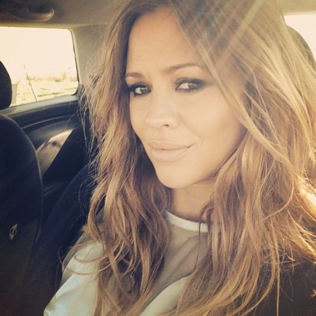 Kimberley Walsh posts a selfie with smoky eyes and long hair on Instagram - 16 April 2014
