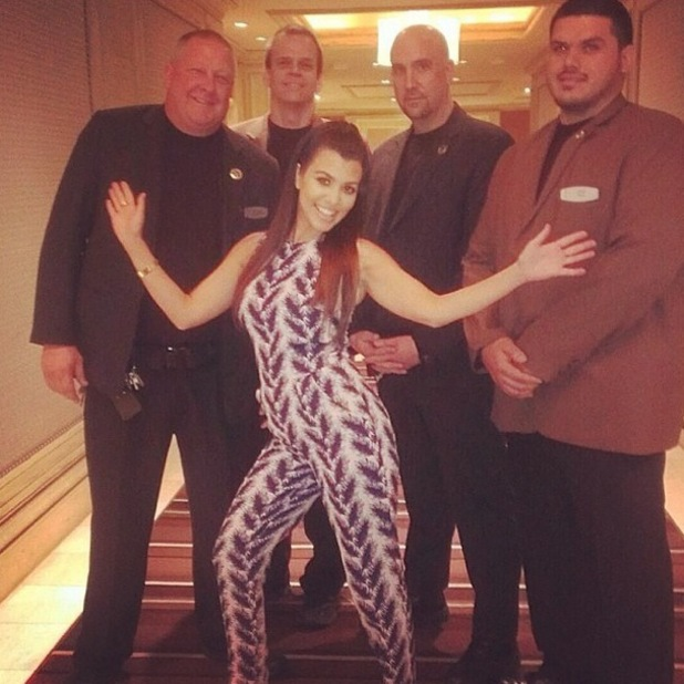 Kourtney Kardashian makes an appearance at the Kardashian Khaos boutique at The Mirage Hotel in Las Vegas, America - 12 April 2014