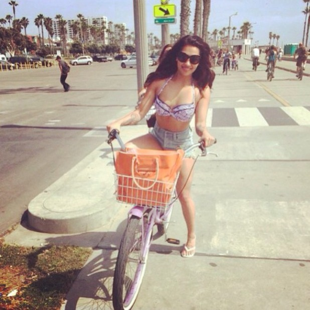 The Saturdays' Vanessa White on holiday with boyfriend Gary Salter, 19 April 2014