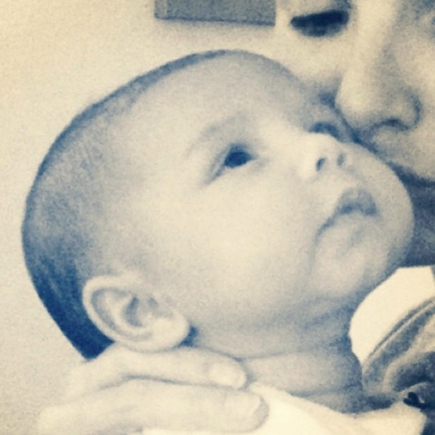 Nadine Coyle shares first public picture of her baby daughter Anaíya, 20 April 2014