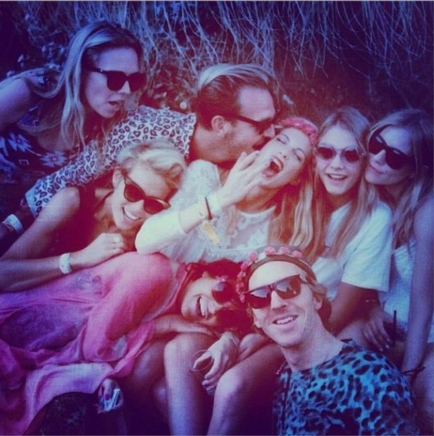 Cara Delevigne, Sienna Miller, Jaime Winstone at Coachella 15.4.2014