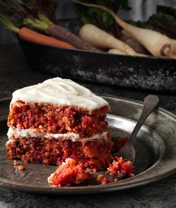 Lily Vanili's gluten-free carrot and root veg cake