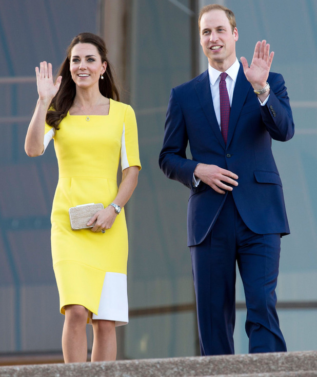 Prince William, Duke of Cambridge and Catherine, Duchess of Cambridge arriving at Sydney Opera House during an official visit to Australia - 16 April 2014