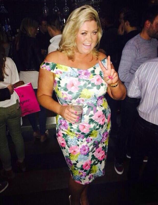 Gemma Collins shares pictures of a night out with Sam and Billie Faiers at Sugar Hut in Essex, 19 April 2014