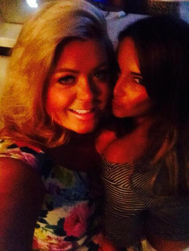 Gemma Collins shares pictures of a night out with Sam Faiers at Sugar Hut in Essex, 19 April 2014