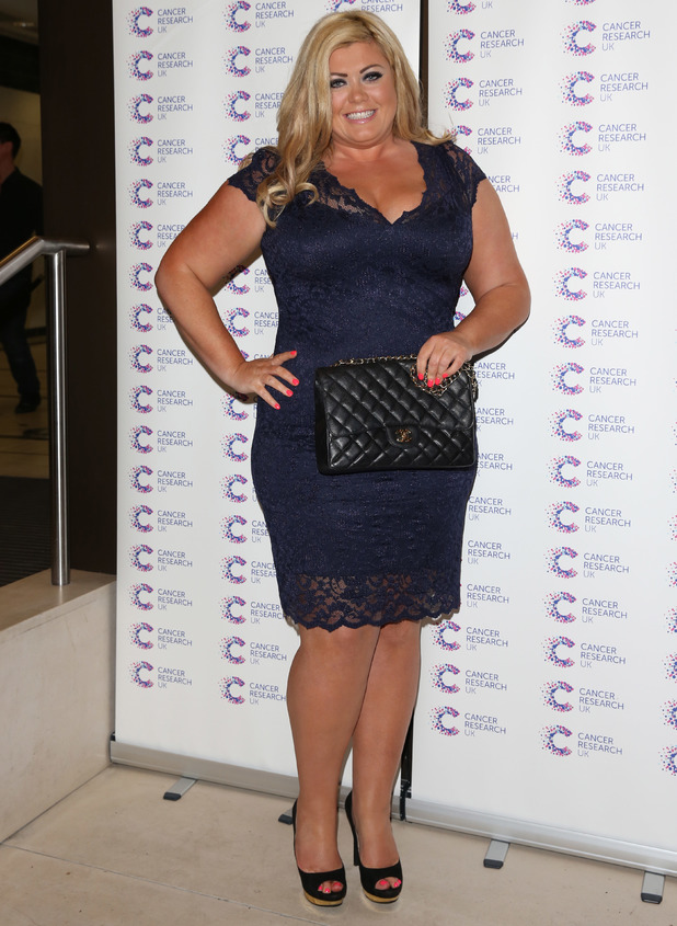 Gemma Collins, 'James' Jog-on to Cancer' fundraiser in aid of Cancer Research UK held at The Kensingron Roof Gardens - Arrivals, 9 April 2014