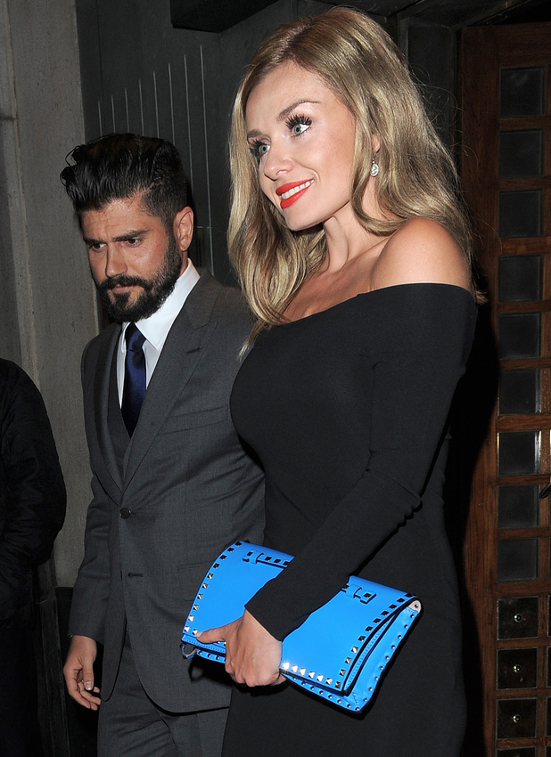 Katherine Jenkins abd boyfriend Andrew Levitas leave The Ivy after celebrating her OBE , 14 Mar 2014