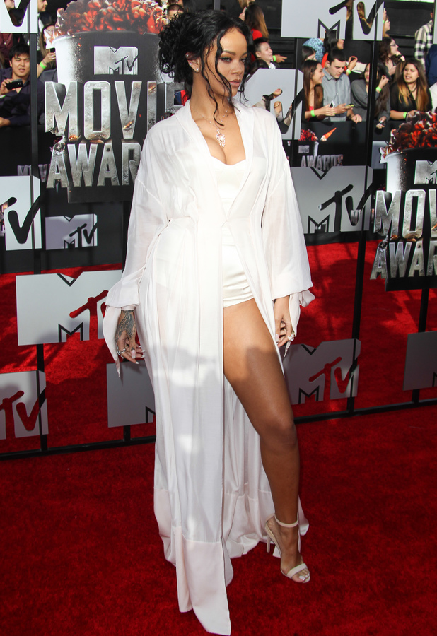Rihanna steps out at the 2014 MTV Movie Awards in Los Angeles, America - 13 April 2014