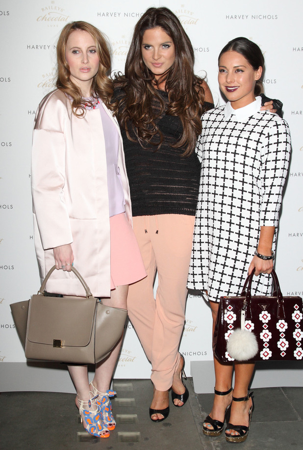 Made In Chelsea's Rosie Fortescue, Binky Felstead and Louise Thompson attend the VIP launch of Bailey's Chocolat Luxe Easter egg hunt at Harvey Nichols, London - 15 April 2014