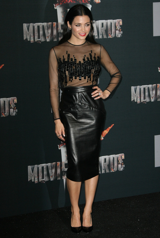 Jenna Dewan-Tatum steps out at the MTV Movie Awards 2014 in Los Angeles, America - 13 April 2014
