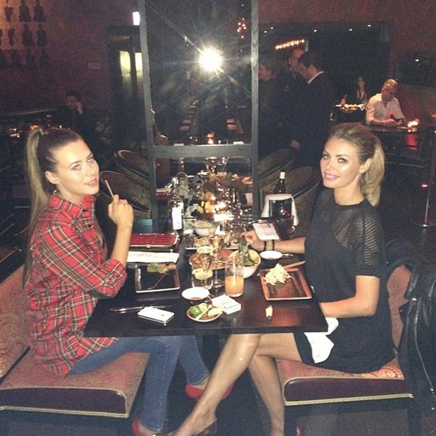 Chloe Sims and sister Demi at Budda Bar, London, Britain - 15 Apr 2014