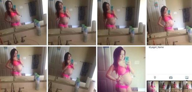 Jenelle Evans shows off baby bump in a bikini, 14 April 2014