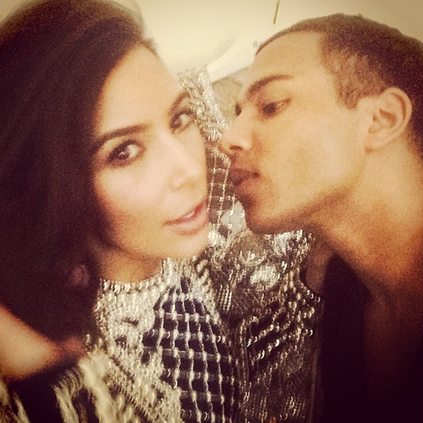 Kim Kardashian pictured by Olivier Rousteing in Paris, 15 April 2014