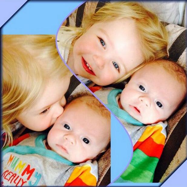 Michelle Heaton's daughter Faith and son Aaron, Twitter, 15 April 2014