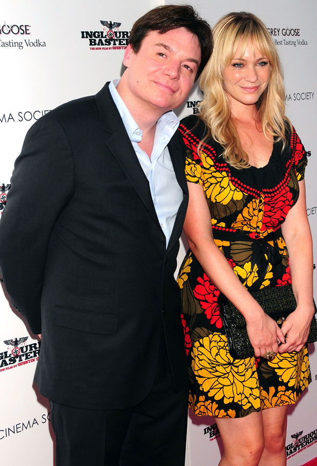 Mike Myers and Kelly Tisdale, The Cinema Society & Hugo Boss screening of 'Inglourious Basterds' at SVA Theater, 2009