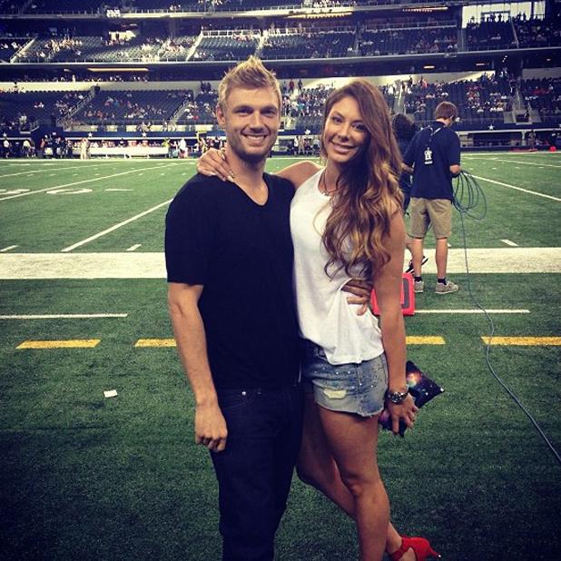 Nick Carter and wife Lauren Kitt, 2013