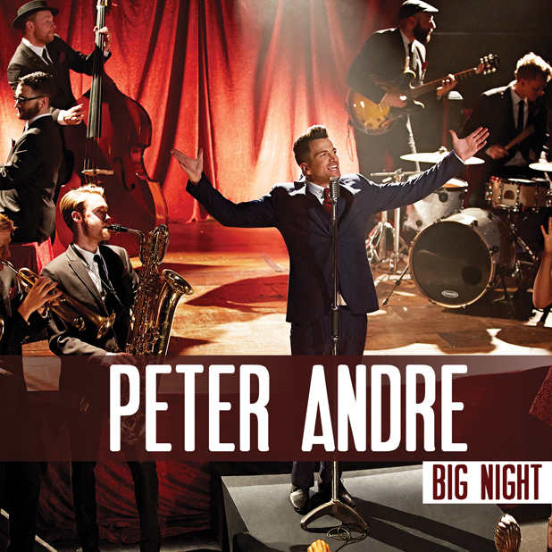 Peter Andre's album artwork for Big Night, 2014