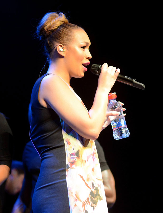 Rebecca Ferguson performs at Vicar Street, Dublin after announcing her third pregnancy, 13 April 2014
