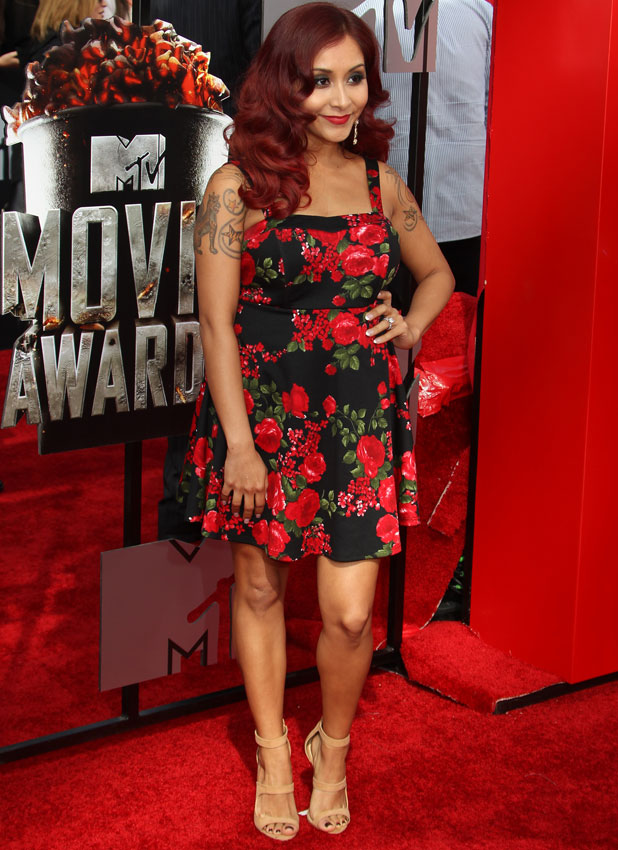 Snooki, The 23rd Annual MTV Movie Awards at Nokia Theatre on April 13, 2014 in Los Angeles, California, 13 April 2014