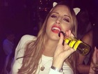 TOWIE's Ferne McCann dons cat ears for night out with the girls