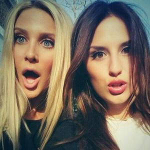 Lucy Watson posts photo of herself and Stephanie Pratt, after Stephanie's return to Made In Chelsea is confirmed (21 April).