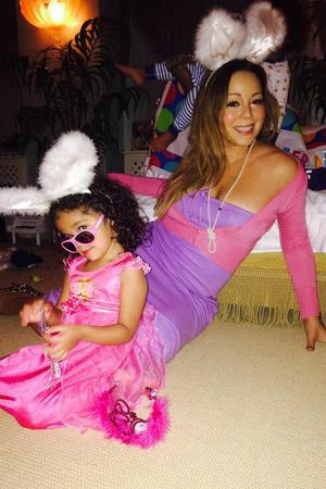 Mariah Carey celebrates Easter with daughter Monroe (21 April).