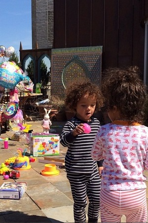 Mariah Carey and Nick Cannon's twins Monroe and Moroccan celebrate Easter (21 April).
