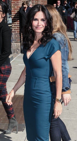 Courteney Cox at the Ed Sullivan Theater for the Late Show with David Letterman 04/21/2014