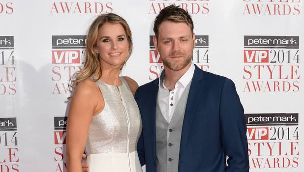 Vogue Williams and husband Brian McFadden attend VIP Style Awards at The Marker Hotel, Dublin, 25 April 2014