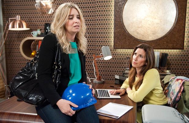 Emmerdale, Charity talks to Megan, Mon 28 apr