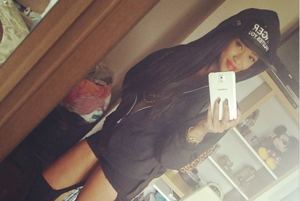 The X Factor's Tamera Foster posts an Instagram mirror selfie - 23 April 2014