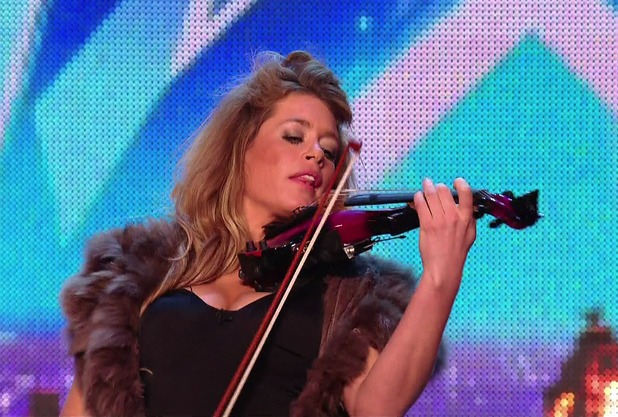 Lettice Rowbotham playing the violin