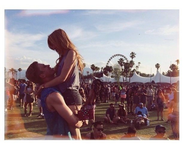 Bella Thorne and Tristan Klier attend Coachella music festival in California, America - 20 April 2014