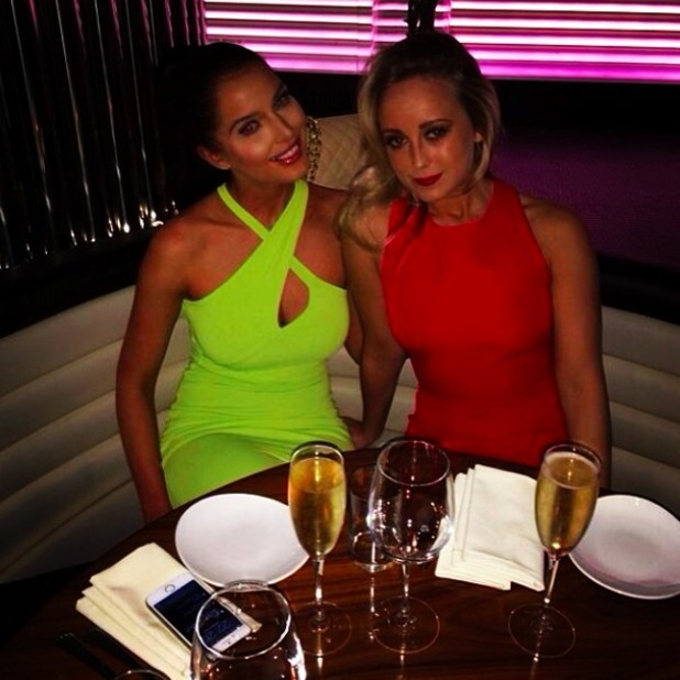 Helen Flanagan looks stunning on a night out with friends, 20 April 2014