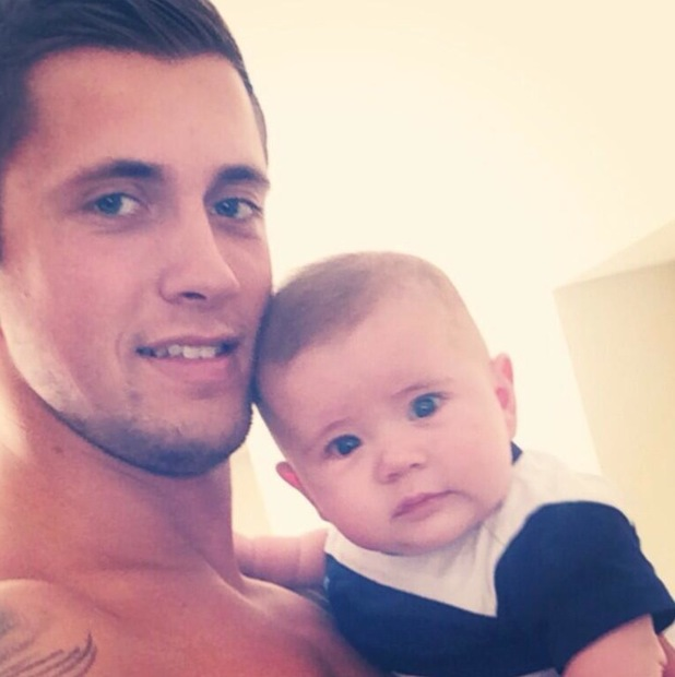 Dan Osborne shares a picture of himself cuddling his son Teddy - 25 April 2014