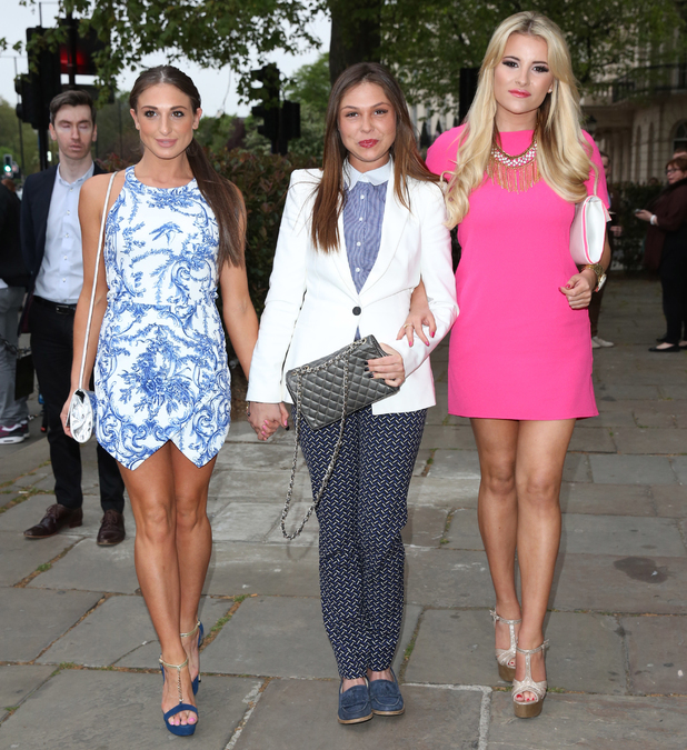 Grace Andrews, Fran Parman and Georgia Kousoulou at Superdrug 50th birthday party held at One Marylebone - Arrivals - 23 April 2014