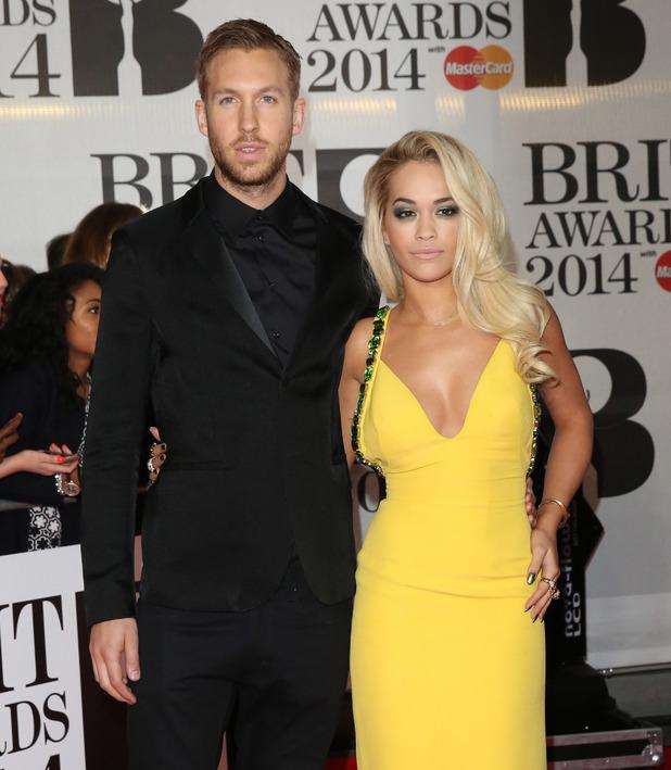 Rita Ora, Calvin Harris - The Brit Awards (Brit's) 2014 held at the O2 - Arrivals 19 Feb London, United Kingdom