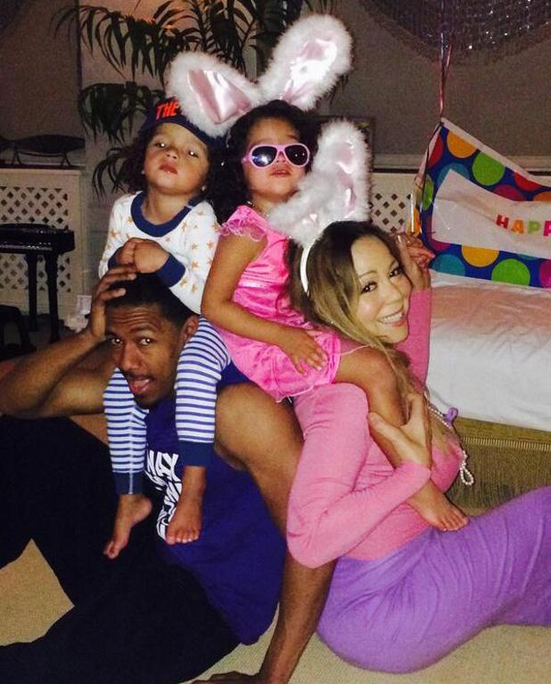 Mariah Carey and Nick Cannon celebrate Easter with twins Monroe and Moroccan (21 April).