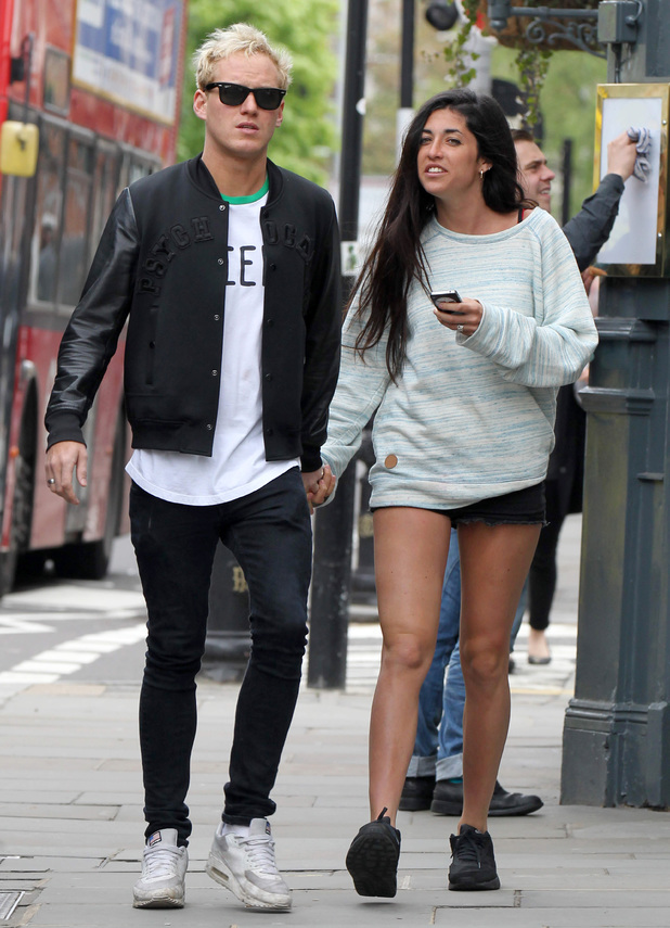 Jamie Laing and Tara Keeney out and about, London, Britain - 22 Apr 2014