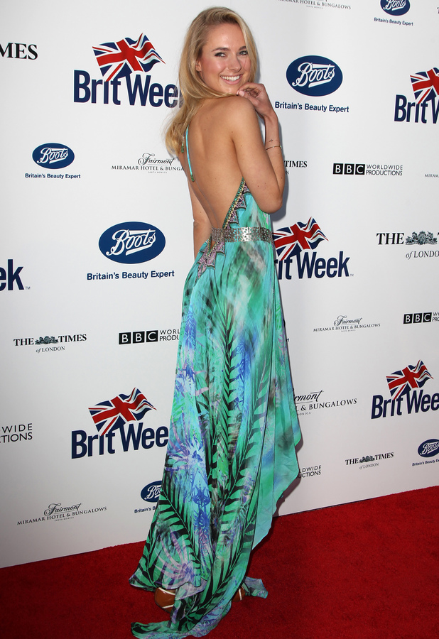 Former Made In Chelsea star Kimberley Garner attends the 8th Annual Brit Week launch party in Los Angeles, America - 22 April 2014