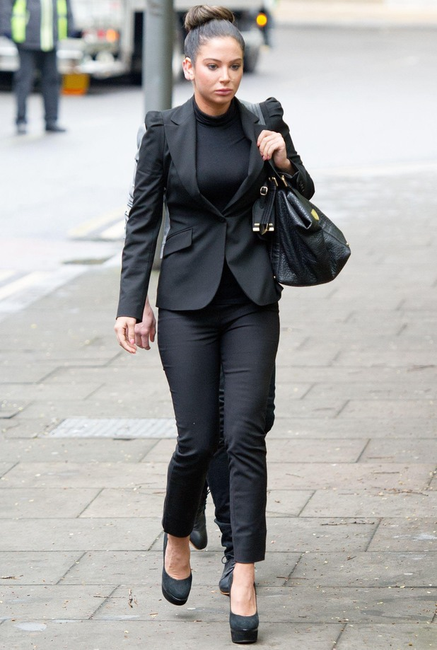 Tulisa Contostavlos in court charged with drugs offences, Southwark Crown Court, London, Britain - 22 Apr 2014