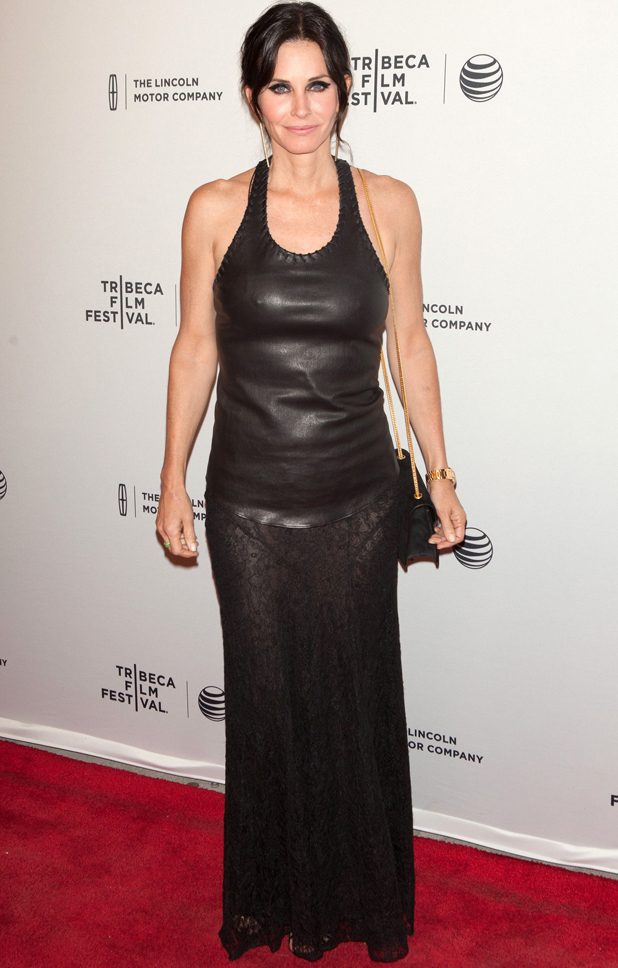 Courteney Cox and Johnny McDaid, 'Just Before I Go' film premiere, Tribeca Film Festival, New York, America - 24 Apr 2014