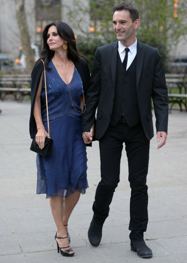 Courteney Cox and Johnny McDaid, 2014 Tribeca Film Festival - Vanity Fair Party at the State Supreme Courthouse, 23 April 2014
