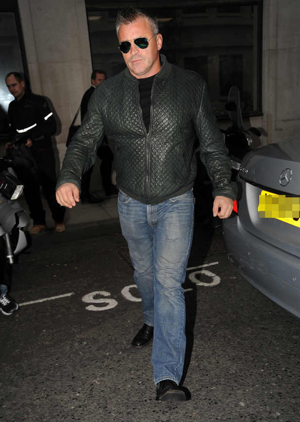 Matt LeBlanc at the BBC Radio 2 studios in London promoting the third series of Extras, 25 April 2014