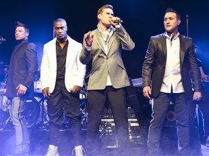 Blue - Lee Ryan, Simon Webbe, Duncan James, Antony Costa 3 May 2013. London, United Kingdom