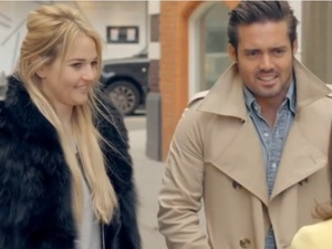 New cast member Riley bumps into Spencer and Louise - Made In Chelsea. Airs: 28 April 2014.