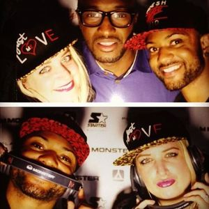 JLS' JB Gill and fiancee Chloe Tangney at the London launch party of streetwear brand Fresh Ego Kid (29 April).