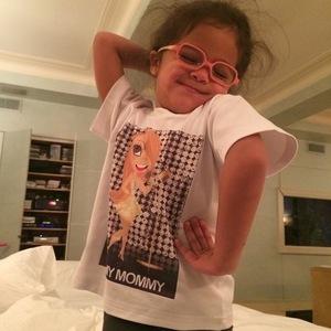 Mariah Carey's daughter Monroe poses like her mum (27 April).