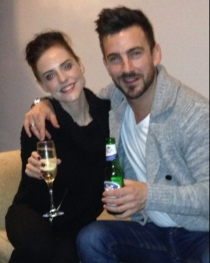 Stephanie Waring and her now ex-boyfriend Dan Hooper at New Year - 1 Jan 2014